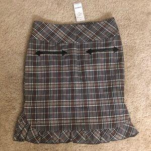 NWT Plaid High Waist Pencil Skirt from Bebe Sz 00